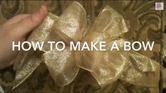 how to tie a christmas bow - YouTube