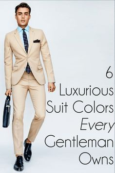 6 Luxurious Suit Colors for the Classy Gentleman
