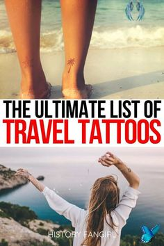 1001 Inspired Travel Tattoo Ideas & What to Expect If You Get a Tattoo While Traveling Are you considering getting a travel tattoo? This is the ULTIMATE list of travel tattoo ideas & travel tattoo inspiration, plus what to expect when you get a travel tattoo while traveling. travel tattoo small | travel tattoo sleeve | travel tattoo men | travel tattoos for women | travel tattoo ideas unique | travel tattoo ideas small | train tattoos | airplane tattoos | swimming tattoos | camping tattoos… Airplane Tattoos, Car Tattoos, Tattoos For Guys, Tattoos For Women, Get A Tattoo, Tattoo Small, Wanderlust Tattoos, Train Tattoo, Swimming Tattoo