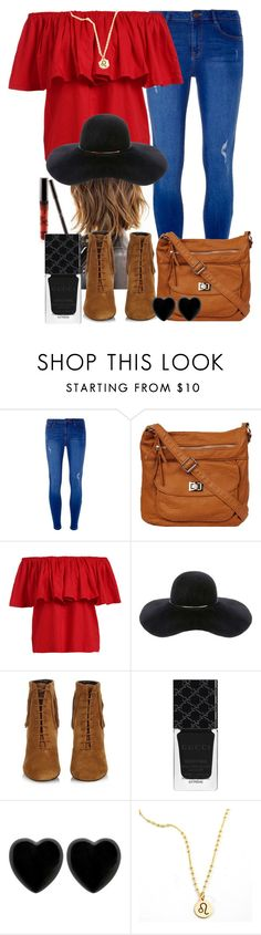 """July"" by juliadath55 on Polyvore featuring Dorothy Perkins, Eugenia Kim, Yves Saint Laurent, Gucci, Dollydagger, fashionset and womensFashion"