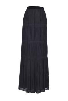 Slit Skirt, Chiffon Skirt, Pleated Skirt, Midi Length Skirts, Stripe Skirt, Rib Knit, Mini Skirts, Silhouette, How To Wear