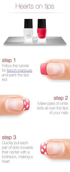 Very Easy Valentines Day Nail Art Tutorials 2014 For Beginners & Learners Nail Design, Nail Art, Nail Salon, Irvine, Newport Beach