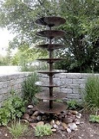 Disc Plough Fountain - very clever