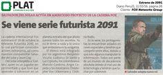 FOX Networks Group: Estreno de 2091 en el diario Perú21 (11/10/16)