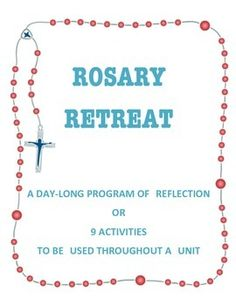 Great for a whole day or individual activities. October is the month of the Holy Rosary Ccd Activities, High School Activities, Holy Rosary, Rosary Catholic, Breakup, Ideas Para, Reflection, Religion, Prayers
