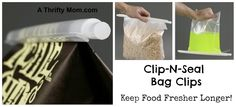 CLIP-N-SEAL BAG CLIPS KEEP FOODS FRESHER LONGER ~ LOVE THIS PRODUCT!