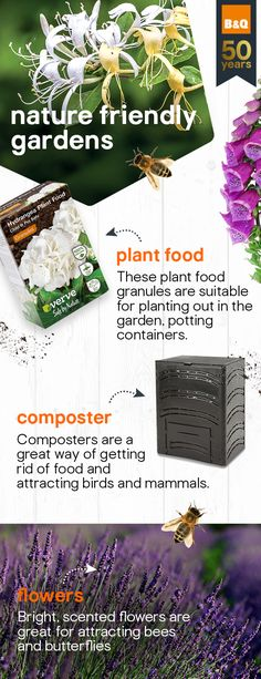 Bring life back into your garden and welcome nature to your space. By adding a water butt and composter, you can attract those all-important bees and butterflies in, to help you create a garden to be proud of. Garden Spaces, Garden Plants, Garden Projects, Garden Ideas, Natural Garden, Christmas Bells, Garden Supplies, Raised Beds, Garden Inspiration