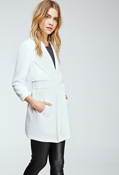 Draped Shawl Collar Coat | Forever 21 - 2000135436 in White
