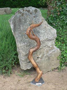 Le Pêcheur de Bois, Yann Viau, bois flotté, driftwood, schwemmholz, cire, ardoise, wax, salamandre, salamander, sculpture naturelle, Loire
