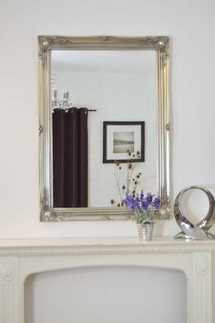 extra large french silver overmantle wall mirror complete with premium quality pilkingtons glass size aston solid oak wall mirror