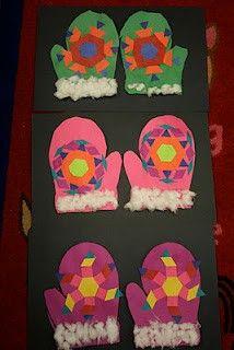 Kids Art -  paper gloves