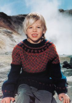 boys kids icelandic sweater, scan from original istex lopi knitting pattern, fuzzy fluffy childs childrens lopapeysa nordic Boys Sweaters, Winter Sweaters, Icelandic Sweaters, Winter Gear, Knitting For Kids, Rare Photos, New Pictures, New Day, Kids Boys