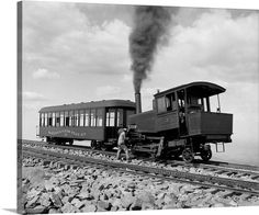 Pikes Peak, Colorado, circa Summit, cog wheel train, Manitou and Pike's Peak Railway. He took Mom on their last vacation together to Manitou Springs and Pikes Peak. Shorpy Historical Photos, Historical Pictures, Pikes Peak, Old Pictures, Old Photos, Into The West, Old Trains, Le Far West, Train Tracks