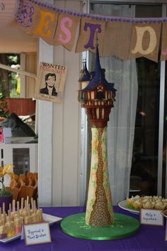 Tangled Rapunzel Tower Cake