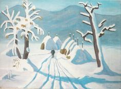 A Polar Bear's Tale: Gabriele Münter August Macke, Franz Marc, Wassily Kandinsky, Snow Scenes, Winter Scenes, Blue Rider, Gouache, Winter Painting, Portraits