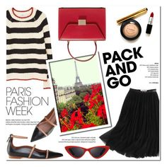 """""""Pack and Go: Paris Fashion Week"""" by helenevlacho ❤ liked on Polyvore featuring WithChic, MANGO, Malone Souliers, Victoria Beckham, LMNT, contestentry, parisfashionweek and Packandgo"""