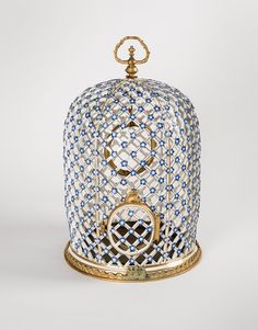 European Decorative Arts | Wadsworth Atheneum Museum of Art. Meissen Manufactory, Bird Cage, 1740-50, Hard-paste porcelain, and gilt bronze, 17 1/2 x 11 1/4 inches, Gift of J. Pierpont Morgan, 1917.1247