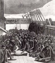 """[slave ship] """"You see, Cassie, many years ago when our people were first  brought from Africa in chains to work as slaves in this country—""""  Ch. 6 of #Roll of Thunder, Hear My Cry by Mildred D. Taylor.   Free resources + sensory, hands-on literature workshops and workshop guides by www.LitWitsWorkshops.com"""