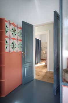 Relationship with nature and memories of space were the driving concepts behind this whimsical Milan apartment renovation by Marcante-Testa. Home Design, Design Studio, Interior Design, Milan Apartment, Apartment Renovation, Wardrobe Doors, Types Of Doors, Minimalist Decor, Modern Minimalist