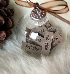 DIY: Christmas In-A-Word Ornaments