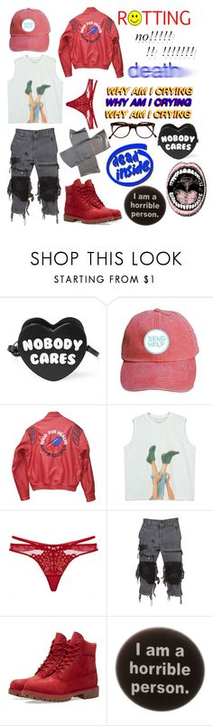 """{Depressed @ 9 pm}"" by benevolent-bby ❤ liked on Polyvore featuring Killstar, Akira, Chicnova Fashion, Dita Von Teese, Unholy Matrimony, Timberland, Humör and Cutler and Gross"