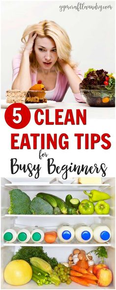 Clean Eating Diet 5 clean eating tips for Busy Beginners. How to eat healthy when you don't have time. - Great tips for those who want to start clean eating. Clean eating for busy beginners. Clean eating doesn't have to be hard or time-consuming. Clean Eating Tips, Clean Eating For Beginners, Healthy Eating Tips, Healthy Nutrition, Nutrition Tips, Clean Eating Snacks, Healthy Dinner Recipes, Diet Recipes, Healthy Snacks