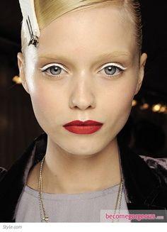 White Eyeliner Makeup Idea