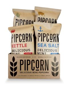 Pipcorn Kernels | Popcorn Packaging | Kraft Packaging | Kraft Stand Up Pouch