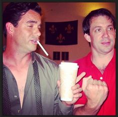 Daran Norris (Cliff McCormack) and Creator Rob Thomas on the set of Veronica Mars.
