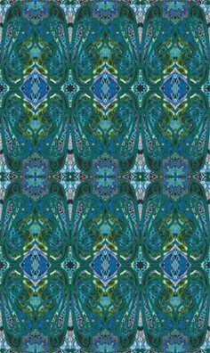 Paula Nadelstern Paisley Green Fabrique-Istan Fabric 1 yard