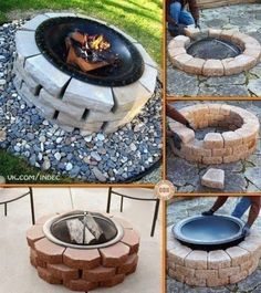 Round grill out of bricks