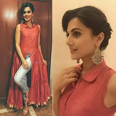 Designer Dresses plus size Kurta Designs, Kurti Designs Party Wear, Blouse Designs, Indian Designer Outfits, Designer Dresses, Indian Fashion Trends, India Fashion, Ethnic Fashion, Indian Dresses