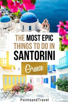 to do in Santorini: Your Bucket List! The Most Epic Things to do in Santorini, Greece - this is the ultimate Santorini bucket list! There are so many gorgeous places to discover in Santorini and tons of pretty photo spots! Santorini Holidays, Santorini Vacation, Santorini Greece Vacation, Mykonos Greece, Crete Greece, Athens Greece, Greece Itinerary, Greece Travel, Greece Trip
