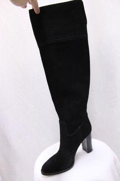 Michael Kors REGINA Over the Knee Black Boots Riding Heels Suede MSRP $295 NEW #MichaelKors #OverKneeBoots