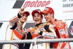 The MotoGP Selfie: Pedrosa, Marquez, Dovizioso, MotoGP race, Grand Prix of the Americas 2014