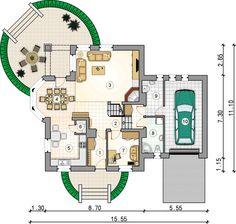 Dom, Floor Plans, House Styles, Floor Plan Drawing