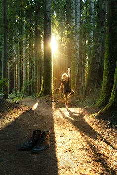 Would love to dance in the forest with no one around, feeling the dirt in between my toes and being one with nature. <3