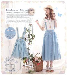Mori girl Sweet Irregularity Skirt preppy chic Pure color bowknot skirt