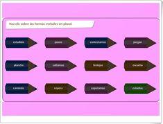 """El verbo"" (Juego de Formas Verbales de Primaria) Shape Games, Spanish Language, Teaching Resources, Learning Spanish, Learning"