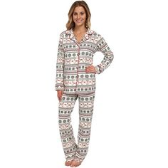 BedHead Classic Stretch PJ Women's Pajama Sets, Neutral ($58) ❤ liked on Polyvore