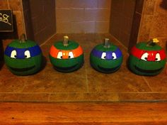 Teenage Mutant Ninja Turtle pumpkins