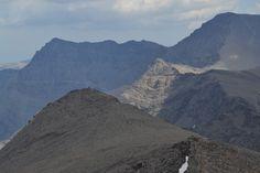 Cerro de los Machos y el Mulhacén y el Alcazaba al fondo