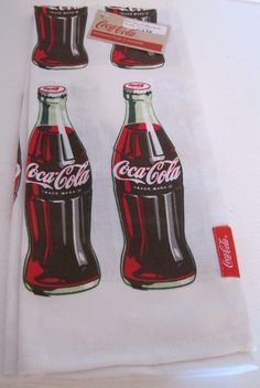 Coca Cola COKE BOTTLE TEA TOWEL NEW W/TAG BOTTLE ROCKET COLLECTION 100%