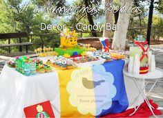 Candy Bar Lego themed-Baptism decoration ideas.