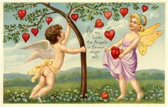 A collection of 8 Vintage Valentine Fairy Images. Valentine's Day isn't just for Cherubs, these cute Fairies are ready to spread some love as well! Valentine Cupid, Valentine Images, Valentine Hearts, Victorian Valentines, Vintage Valentines, Graphics Fairy, Holiday Postcards, Vintage Postcards, Fabric Panel Quilts