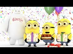 Minions Birthday song with Baymax - YouTube