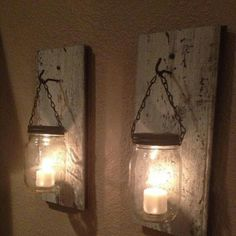 Mason jar candles for anywhere