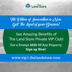 Hurry Up! Sign up now & get the land of your dreams. http://vip1.thelandstore.com/ #landbroker #realestate #realestateagent #floridarealestate #properties #investmentopportunity #PropertinFlorida #PropertyinUnitedStates