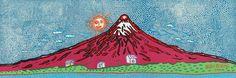 草間彌生 浮世絵版画 「富士山」