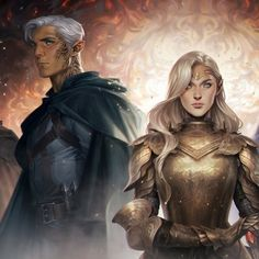 Aelin and Rowan, part of a larger painting by Charlie Bowater. Throne Of Glass Fanart, Throne Of Glass Books, Throne Of Glass Series, Aelin Ashryver Galathynius, Celaena Sardothien, Book Characters, Fantasy Characters, Charlie Bowater, Rowan And Aelin